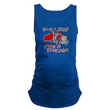 Save a Semi, Ride a Trucker Maternity Tank Top