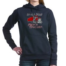 Save a Semi, Ride a Tru Women's Hooded Sweatshirt