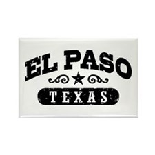 El Paso Texas Rectangle Magnet