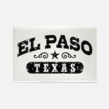 El Paso Texas Rectangle Magnet