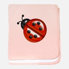 Cute Ladybug Baby Blanket