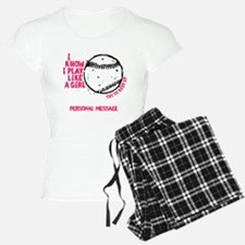 Personalized Softball Girl Pajamas