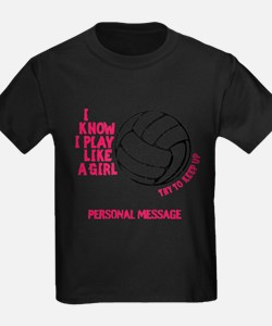 Personalized Volleyball Girl T