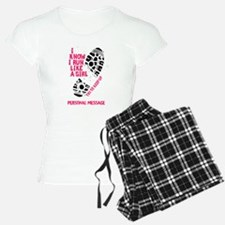 Personalized Runner Girl Pajamas