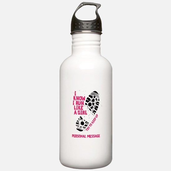 Personalized Runner Girl Sports Water Bottle