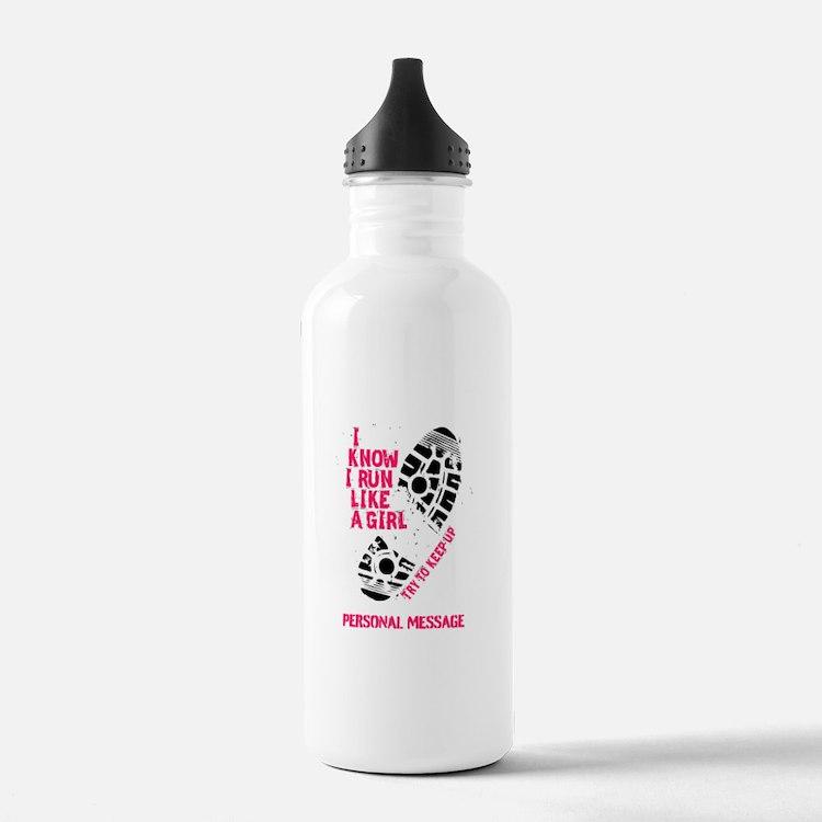 Personalized Runner Girl Water Bottle