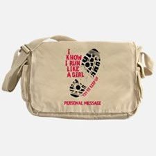 Personalized Runner Girl Messenger Bag