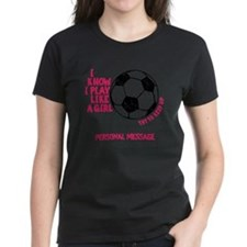 Personalized Soccer Girl Tee