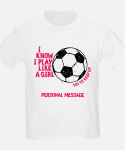Personalized Soccer Girl T-Shirt