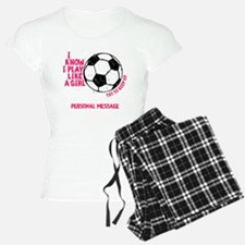 Personalized Soccer Girl Pajamas