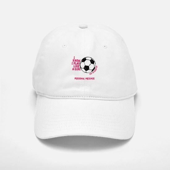 Personalized Soccer Girl Baseball Baseball Cap