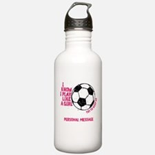 Personalized Soccer Girl Sports Water Bottle
