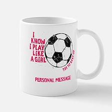 Personalized Soccer Girl Mug