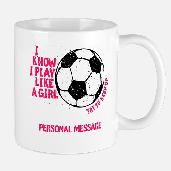 Personalized Soccer Girl Mug