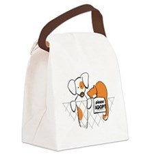 Adopt Pets Patch Rusty Canvas Lunch Bag