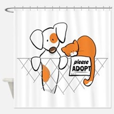 Adopt Pets Patch Rusty Shower Curtain