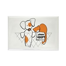 Adopt Pets Patch Rusty Rectangle Magnet
