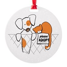Adopt Pets Patch Rusty Ornament