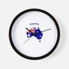 Perth, Australia Wall Clock