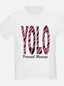 Personalized Pink Zebra YOLO T-Shirt