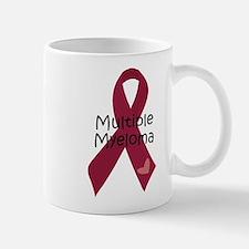 Multiple Myeloma Heart Ribbon Mugs