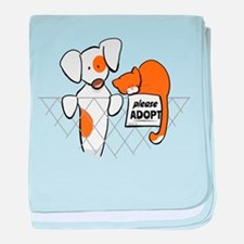 Adopt Pets Patch Rusty baby blanket