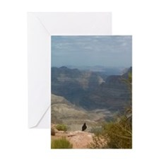 Grand Canyon Crow Greeting Card