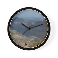 Grand Canyon Crow Wall Clock