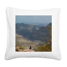 Grand Canyon Crow Square Canvas Pillow