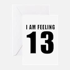 I am feeling 13 Greeting Cards (Pk of 10)