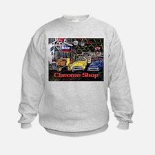 Chrome Shop Old Car Calender Sweatshirt