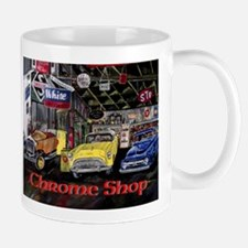 Chrome Shop Old Car Calender Mugs