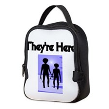 Theyre Here Neoprene Lunch Bag