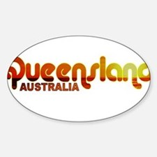Queensland, Australia Oval Decal