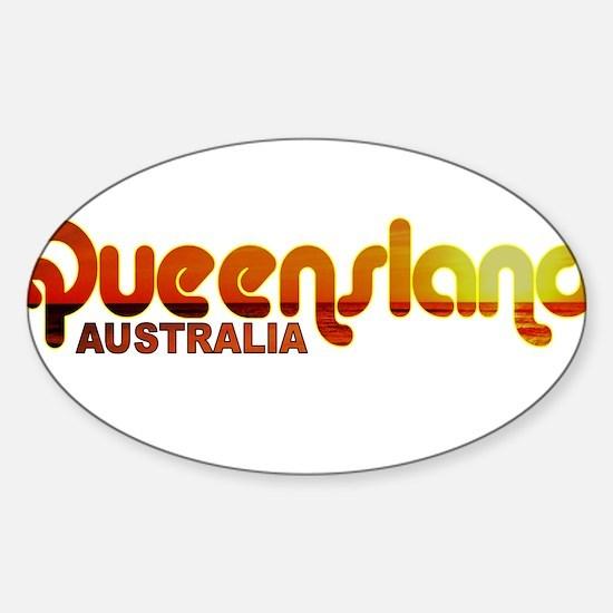 Queensland, Australia Oval Decal
