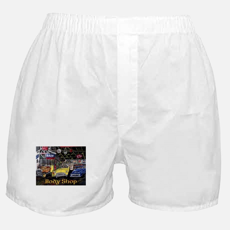 Classic Car Body Shop Calender Boxer Shorts