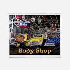Classic Car Body Shop Calender Throw Blanket