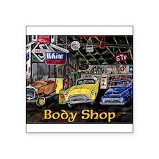 Classic Car Body Shop Calender Sticker