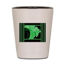 Modern Green Floral Shot Glass