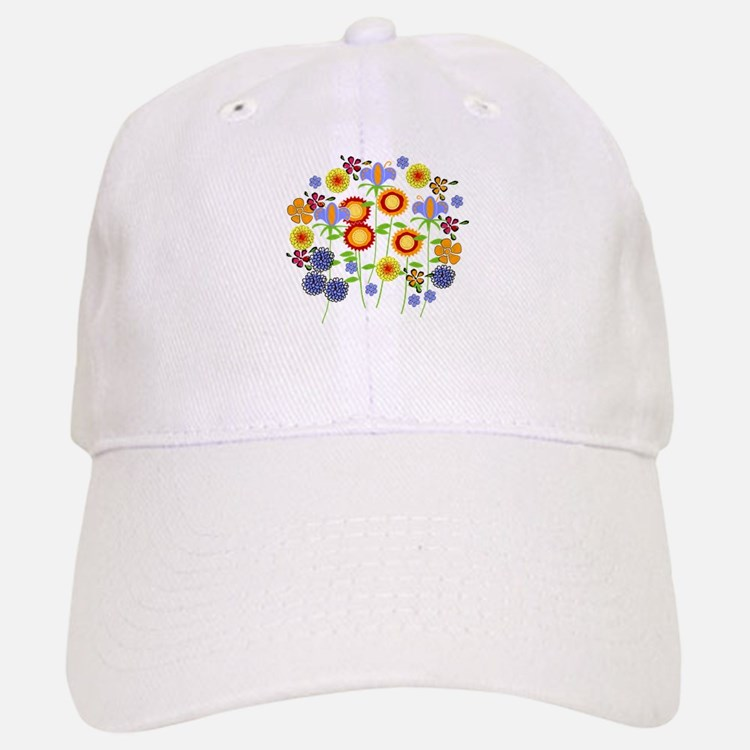 flower power Baseball Baseball Cap