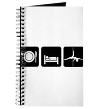 Eat Sleep Pole Dance White/Black Journal