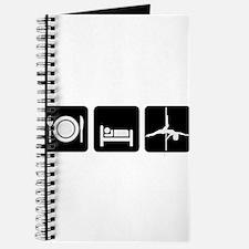 Eat Sleep Pole Dance White/Black Journal