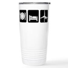 Eat Sleep Pole Dance White/Black Travel Mug