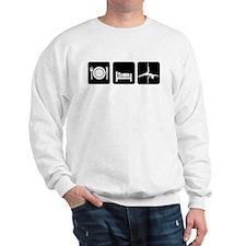 Eat Sleep Pole Dance White/Black Sweatshirt