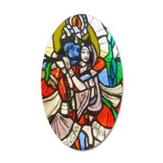 Radha and Krishna 35x21 Oval Wall Decal