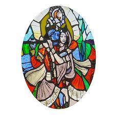 Radha and Krishna Oval Ornament