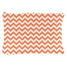 Nectarine Orange White ZigZag Pillow Case
