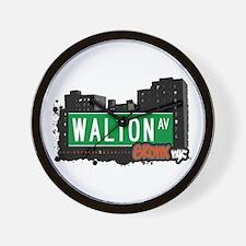Walton Av, Bronx, NYC Wall Clock