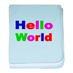 HELLO WORLD 2 baby blanket
