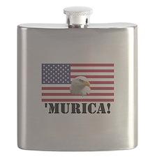 Murica Eagle Flask